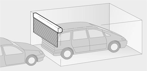 garažna rolo vrata štedi prostor