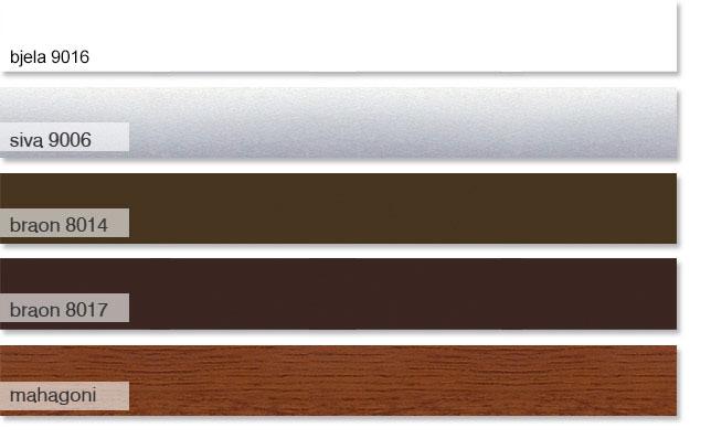 garažna rolovrata standardne boje